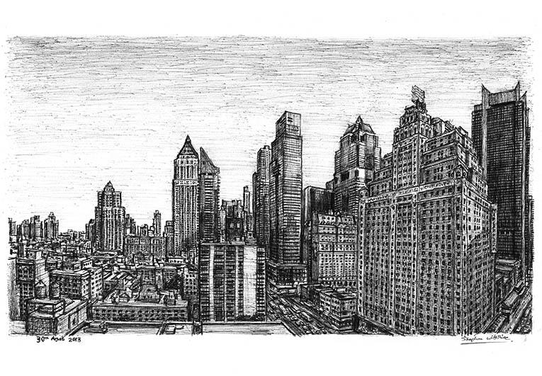 Drawn skyline #15