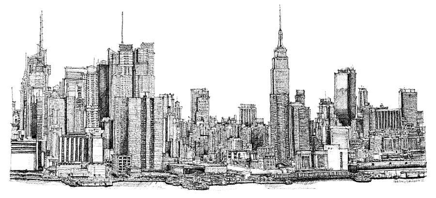 Drawn skyline #10