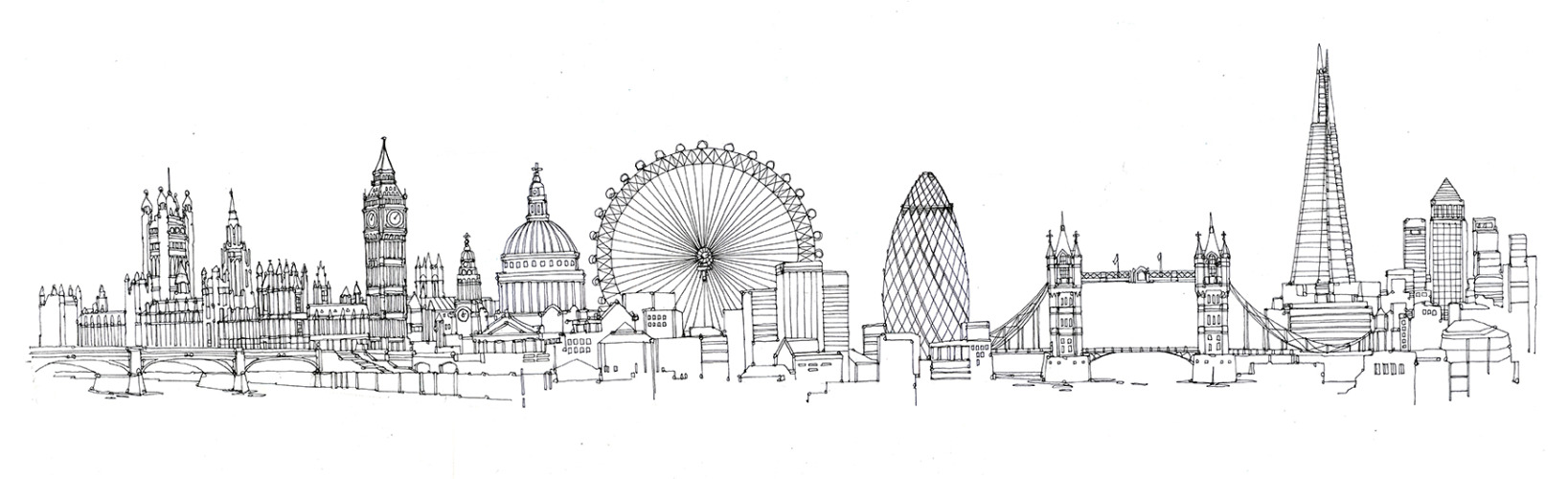 Drawn skyline Drawing Art Clip Art