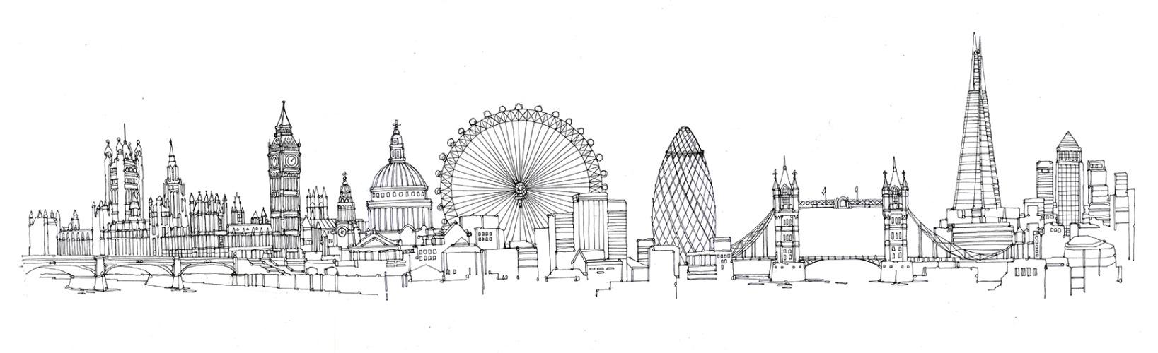 Drawn skyline #4