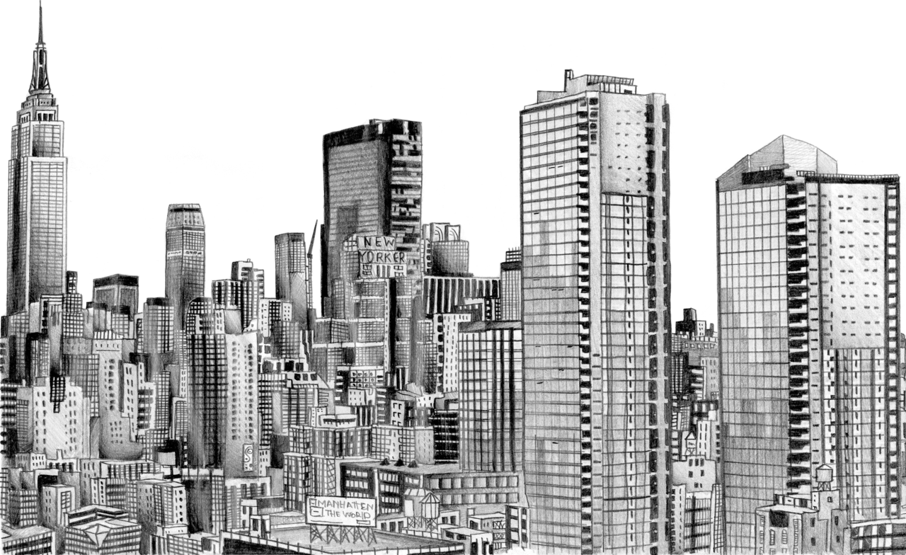Drawn skyscraper Free Art New Art Free