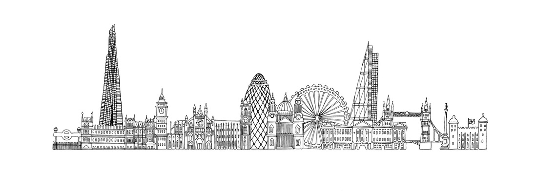 Drawn skyline By Drawings/Prints Jen Skyline London