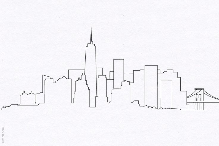 Drawn skyline Drawing Kids City Skyline Simple