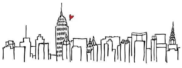 Drawn skyline #5