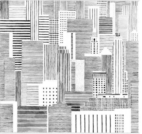 Drawn skyline abstract Drawing Maps Pinterest on &