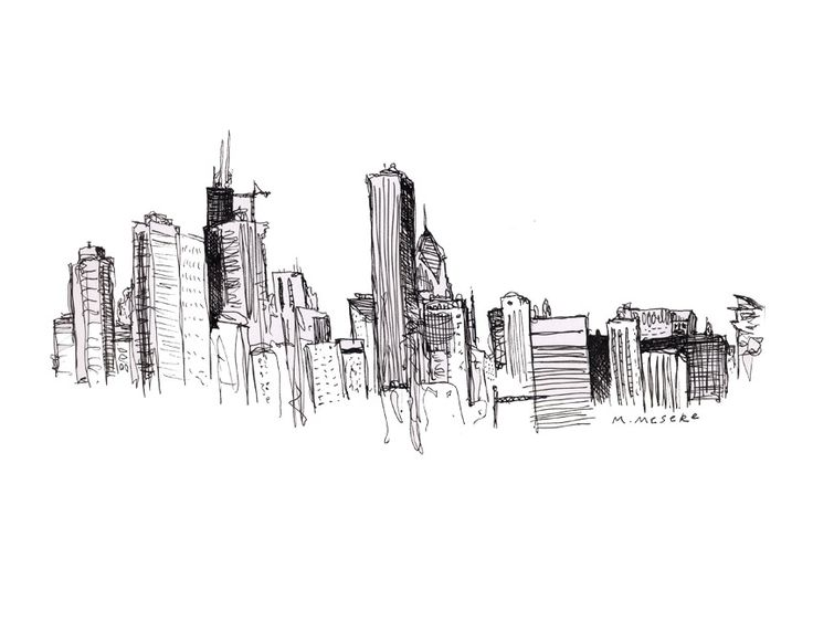 Drawn skyline abstract Art Pinterest w DrawingSkyline 19