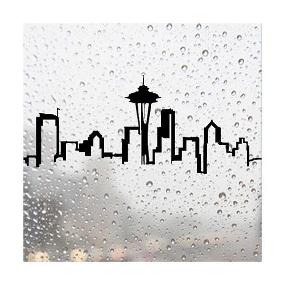 Drawn skyline abstract Art Pinterest Seattle best images
