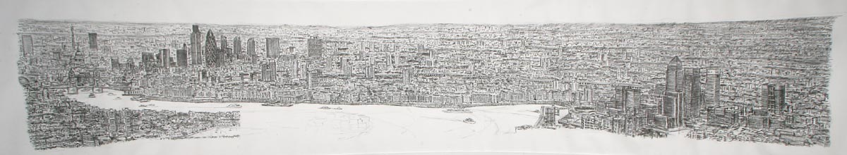 Drawn skyline autism See Wharf London London artist