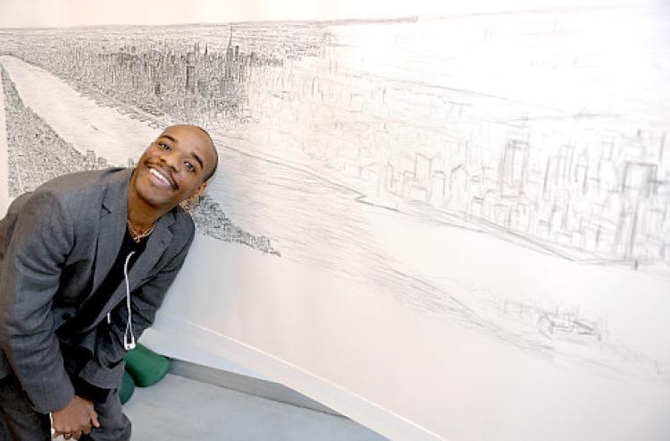Drawn skyline autism NY artist ' Autistic Wiltshire
