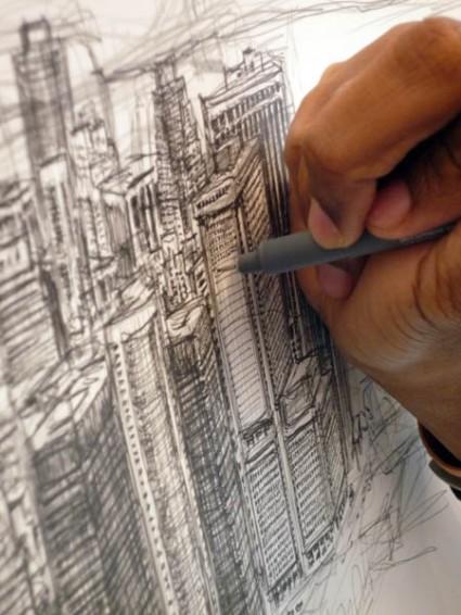 Drawn skyline autism Autistic draws – the of