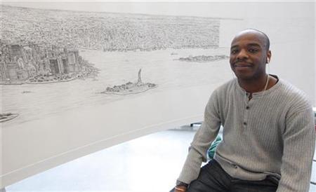 Drawn skyline autism Artist finds in York Autistic