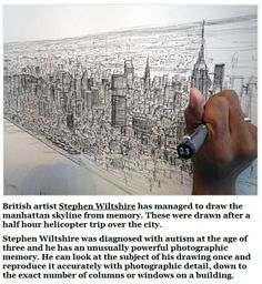 Drawn skyline autism His Artistic drew Wiltshire amazing