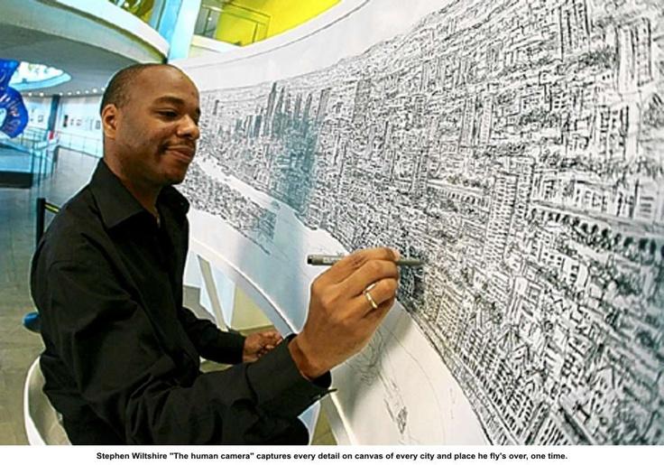 Drawn skyline autism Picture Revealed: How London's genius