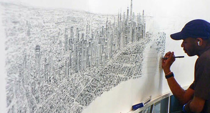 Drawn skyline autistic child Pinterest Stephen Hong  Stephen