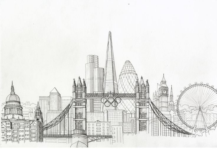 Drawn skyline black and white And this images 17 for