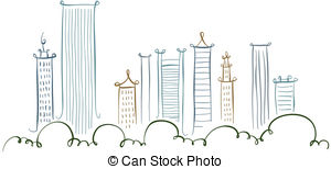Drawn skyline cartoon Of  922 the drawing