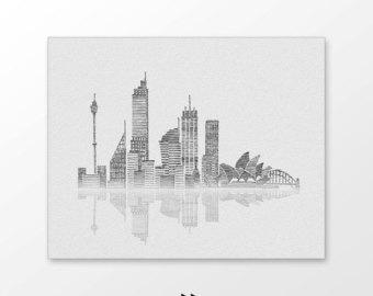 Drawn skyline city line Drawn Monochrome skyline illustration art