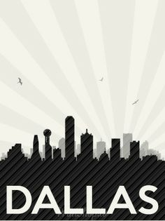 Drawn skyline dallas  with Skyline of Poster
