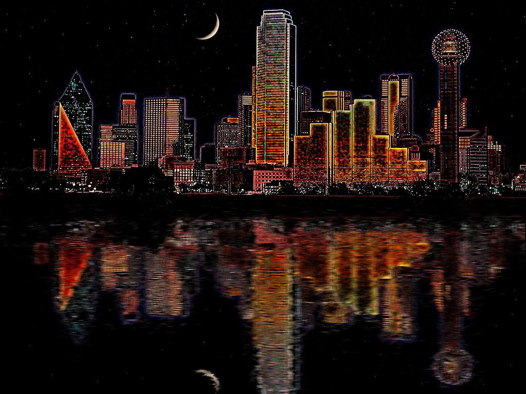 Drawn skyline dallas HoustonTxArtist on DeviantArt Dallas by