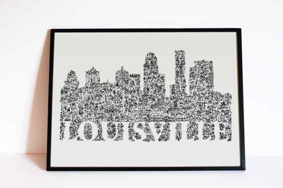 Drawn skyline doodle Art Doodle Wall Kentucky Skyline
