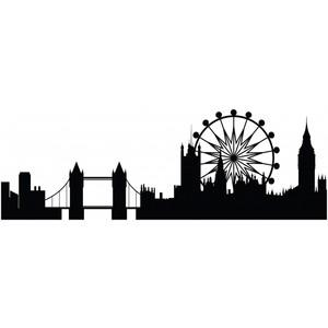 Drawn skyline easy Room Eye Decor London Sticker
