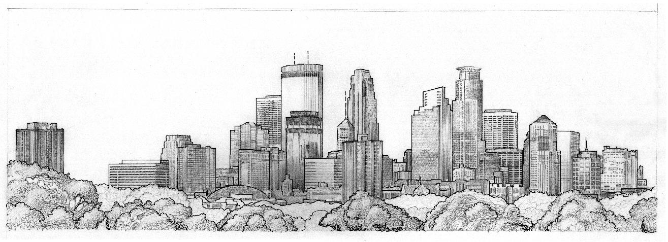 Drawn skyline graffiti skyline Skyline Minneapolis skyline 1 Skyline