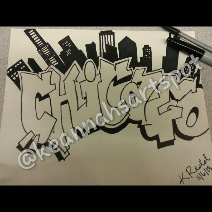 Drawn skyline graffiti skyline By Drawing and Graffiti Me