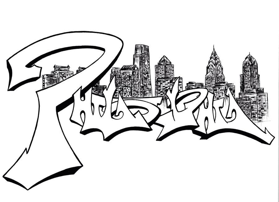 Drawn skyline graffiti skyline Skyline ExxodusRising ExxodusRising Skyline Philly