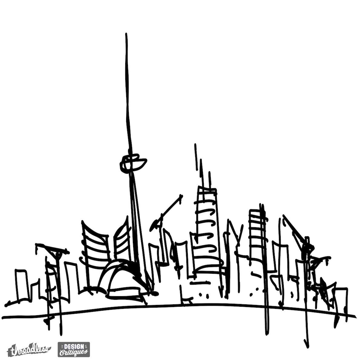 Drawn skyline graffiti skyline Skyline WearSkyline Toronto Threadless on