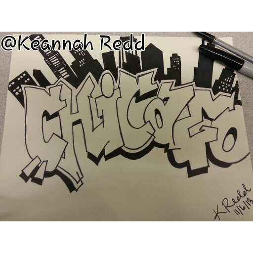 Drawn skyline graffiti skyline Graffiti of Chicago and