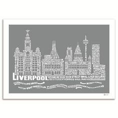 Drawn skyline liverpool Liverpool Liverpool Liverpool 50x70cm Art