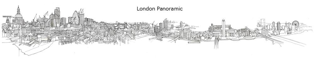Drawn skyline london 360 London panorama copy jpg