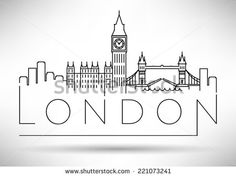 Drawn skyline london Pinterest VINTAGE City drawing Search