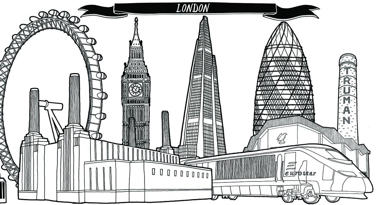 Drawn skyline london Patel Fair Skyline Jitesh Sketch
