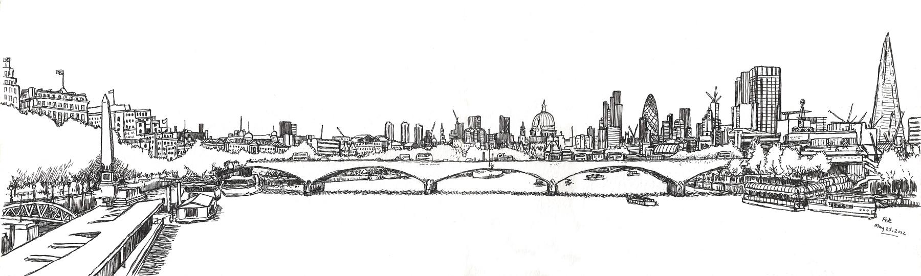 Drawn bridge london waterloo London: panorama Urban Waterloo 2012