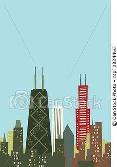 Drawn skyline pop art And Black stock Illustration clip