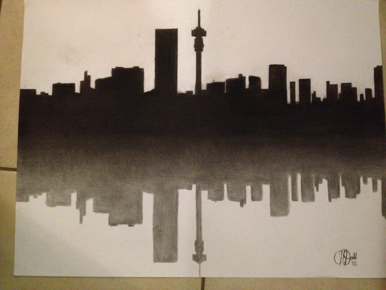 Drawn skyline pop art The skyline skyline of drawing