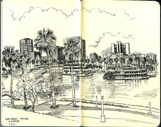 Drawn skyline pop art Webdesigner Notebook by Artworks Exceptional