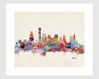 Drawn skyline pop art Skylines prints city city fine