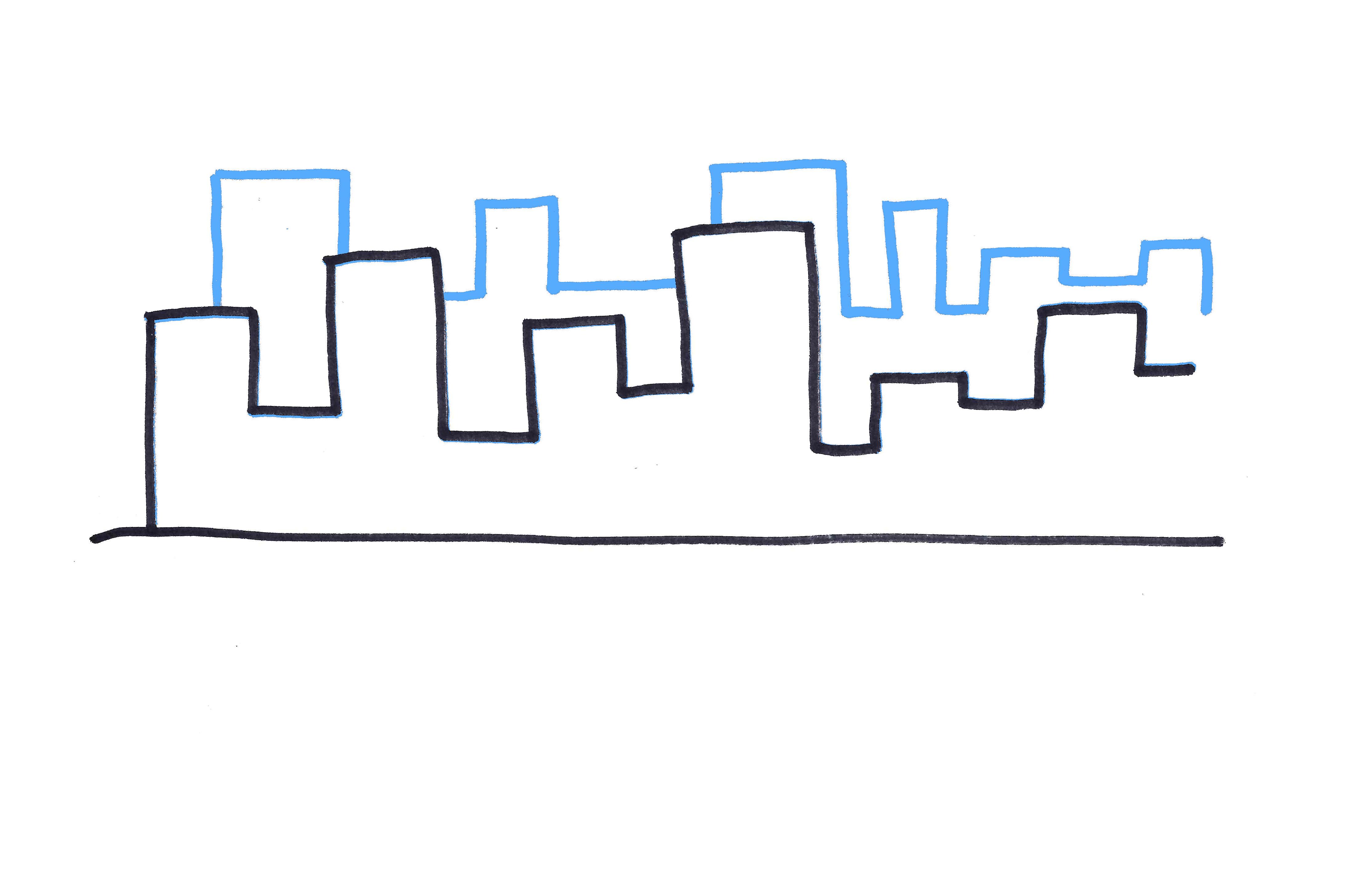 Drawn skyline simple 3 second Skyline to level