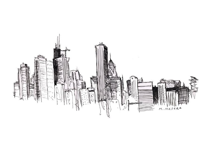 Drawn skyline simple Art Skyline on  Clip