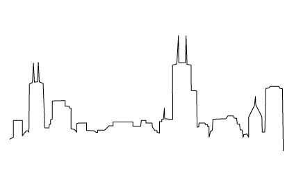 Drawn skyline simple Possible image markers Wedding Tattoo
