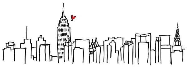 Drawn skyline simple  new wall sketches york