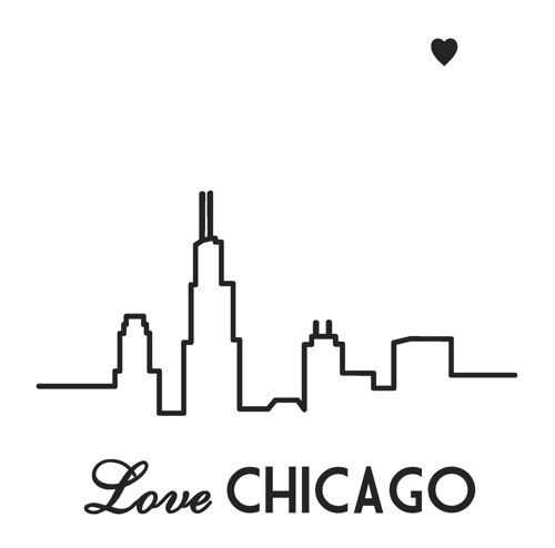 Drawn skyline simple Google love art chicago on