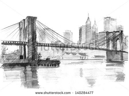 Drawn skyline thank you York drawing of on CardsDrawings