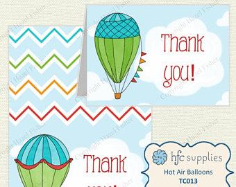 Drawn skyline thank you London Air Balloon drawn cards