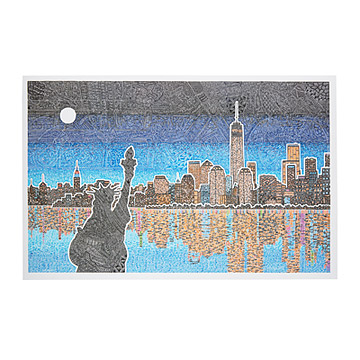 Drawn skyline thank you UncommonGoods Ink City Ink Drawing