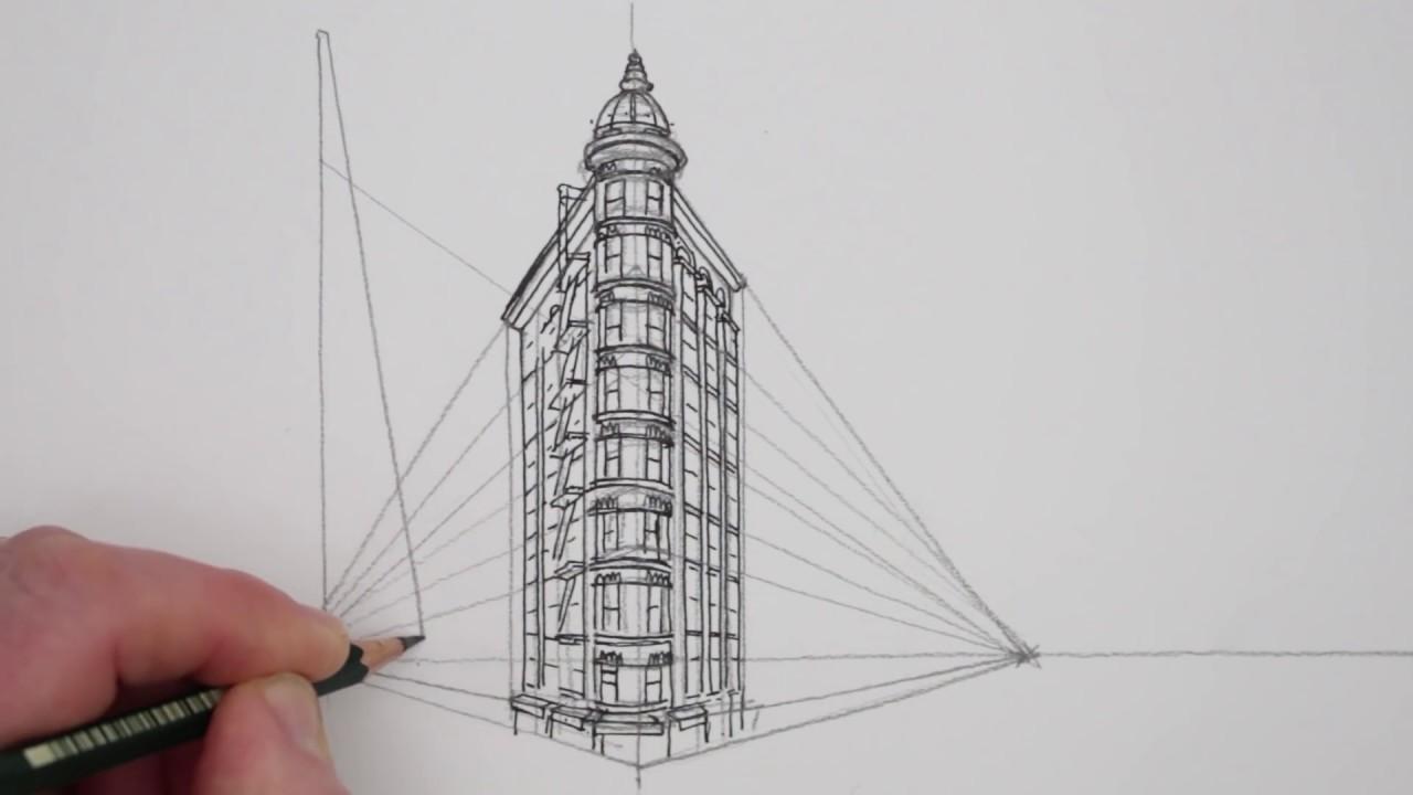 Drawn skyscraper In Perspective: Unsubscribe Francisco Buildings: