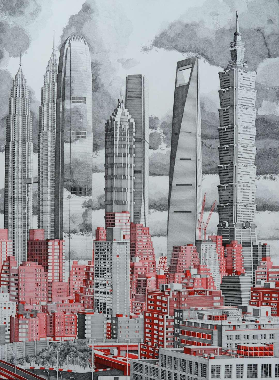 Drawn skyscraper Most ARCHITEKTT Artist Famous Up