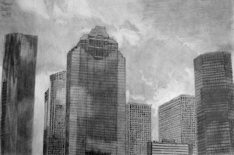 Drawn skyscraper Drawing on Houston DeviantArt by